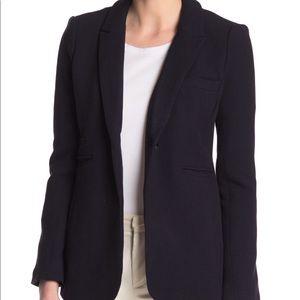 Philosophy Apparel Front Button Blazer Navy Blue